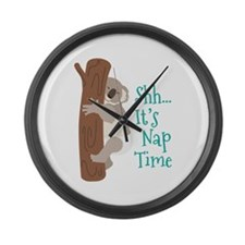 Shh... Its Nap Time Large Wall Clock