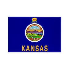 Kansas flag Magnets