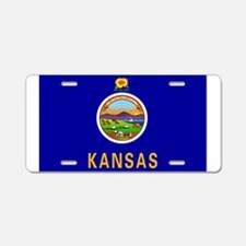 Kansas flag Aluminum License Plate