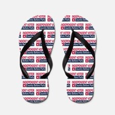 Independent Voter Red Blue Flip Flops