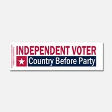 Independent Voter Red Blue Car Magnet 10 x 3