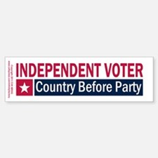 Independent Voter Red Blue Bumper Bumper Sticker