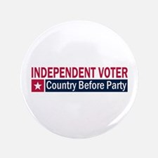 "Independent Voter Red Blue 3.5"" Button"