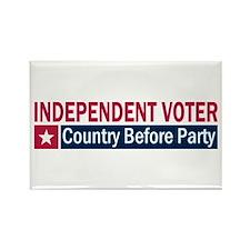 Independent Voter Red Blue Rectangle Magnet