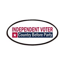 Independent Voter Red Blue Patches