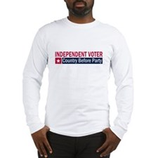 Independent Voter Red Blue Long Sleeve T-Shirt