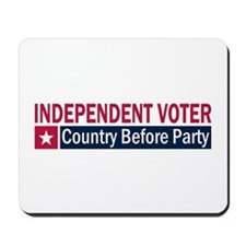 Independent Voter Red Blue Mousepad