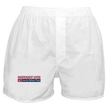Independent Voter Red Blue Boxer Shorts