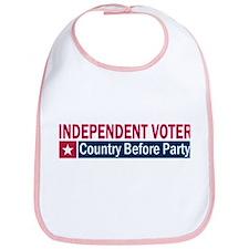 Independent Voter Red Blue Bib