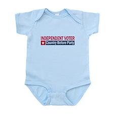 Independent Voter Red Blue Infant Bodysuit