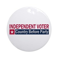 Independent Voter Red Blue Ornament (Round)