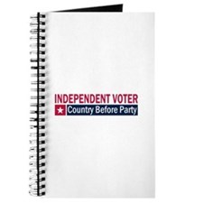 Independent Voter Red Blue Journal