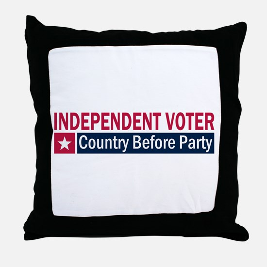 Independent Voter Red Blue Throw Pillow