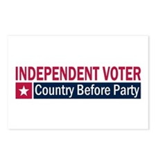 Independent Voter Red Blue Postcards (Package of 8