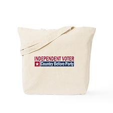 Independent Voter Red Blue Tote Bag
