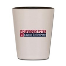 Independent Voter Red Blue Shot Glass