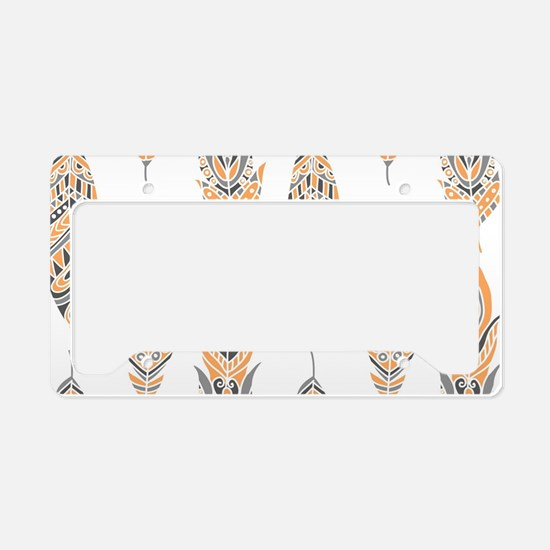 Tribal Feathers License Plate Holder