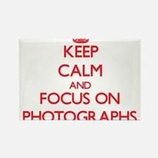 Keep calm and focus on Photographs Magnets