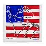 Liberty Cow Tile Coaster