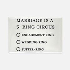 Marriage 3 Rings Rectangle Magnet