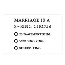 Marriage 3 Rings Postcards (Package of 8)