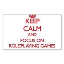 Keep calm and focus on Role-Playing Games Decal