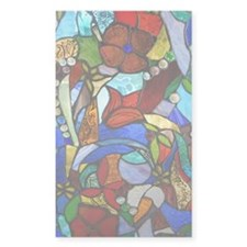 Alicias Garden Window Stained Decal