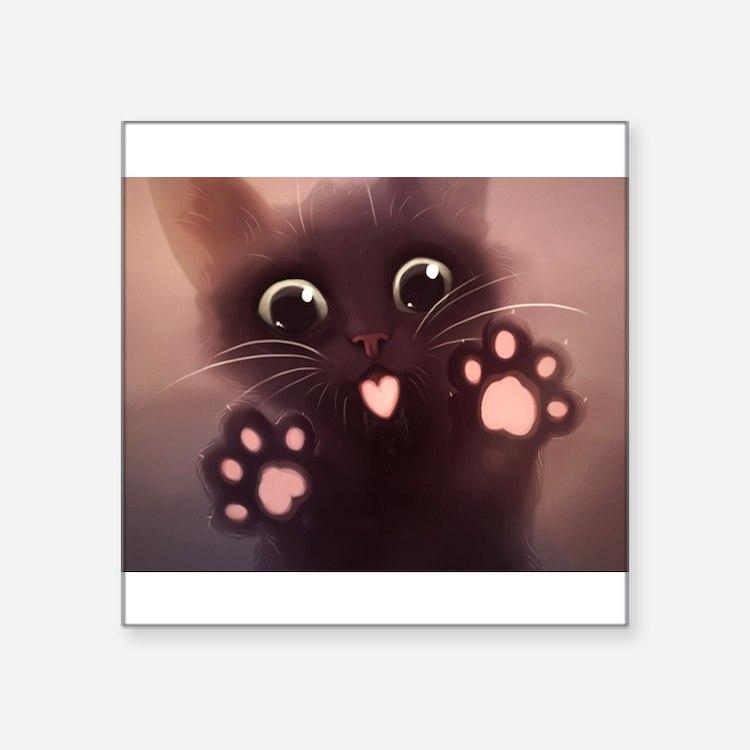 """Cute Square Sticker 3"""" x 3"""""""