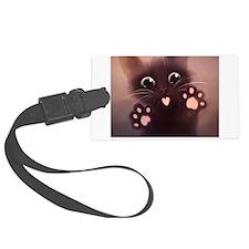 Cute Black kitties Luggage Tag
