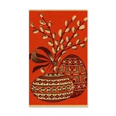 Vintage Russian Easter Card Wall Decal