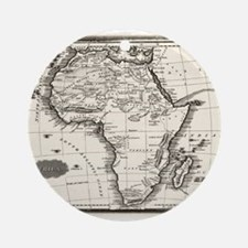 1799 Antique Map Ornament (Round)