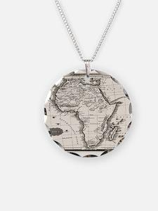 1799 Antique Map Necklace
