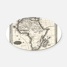 1799 Antique Map Oval Car Magnet