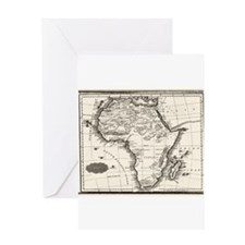 1799 Antique Map Greeting Cards