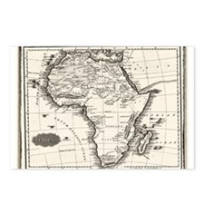 1799 Antique Map Postcards (Package of 8)