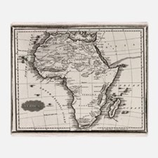 1799 Antique Map Throw Blanket