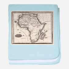 1799 Antique Map baby blanket