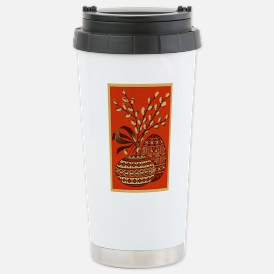 Vintage Russian Easter Card Travel Mug