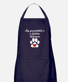 Golden Retriever Grandchild Apron (dark)