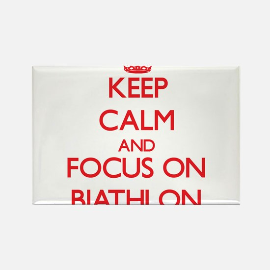 Keep calm and focus on Biathlon Magnets