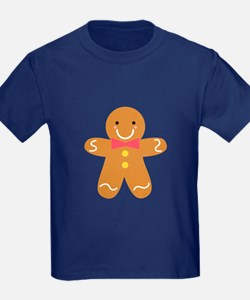 Cute Gingerbread Man with Bow for Christmas T-Shir