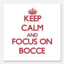 """Keep calm and focus on Bocce Square Car Magnet 3"""""""