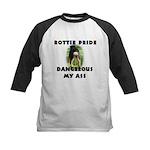 Dangerous My Ass - Rottie Kids Baseball Jersey