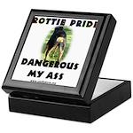 Dangerous My Ass - Rottie Keepsake Box