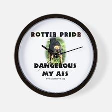 Dangerous My Ass - Rottie Wall Clock
