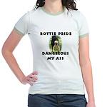 Dangerous My Ass - Rottie Jr. Ringer T-Shirt