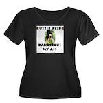 Dangerous My Ass - Rottie Women's Plus Size Scoop