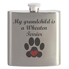 Wheaten Terrier Grandchild Flask