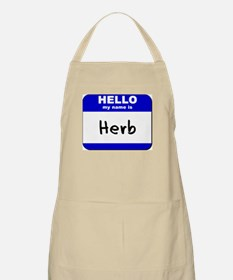 hello my name is herb  BBQ Apron