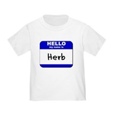 hello my name is herb T